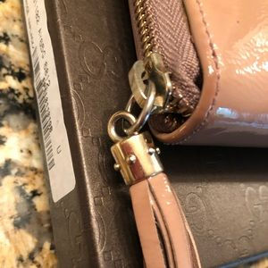 Gucci Bags - ⚡️⚡️Gucci Nude Soho Pat Leather Zip Around Wallet